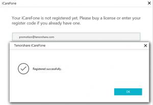 iCareFone Registration Key work
