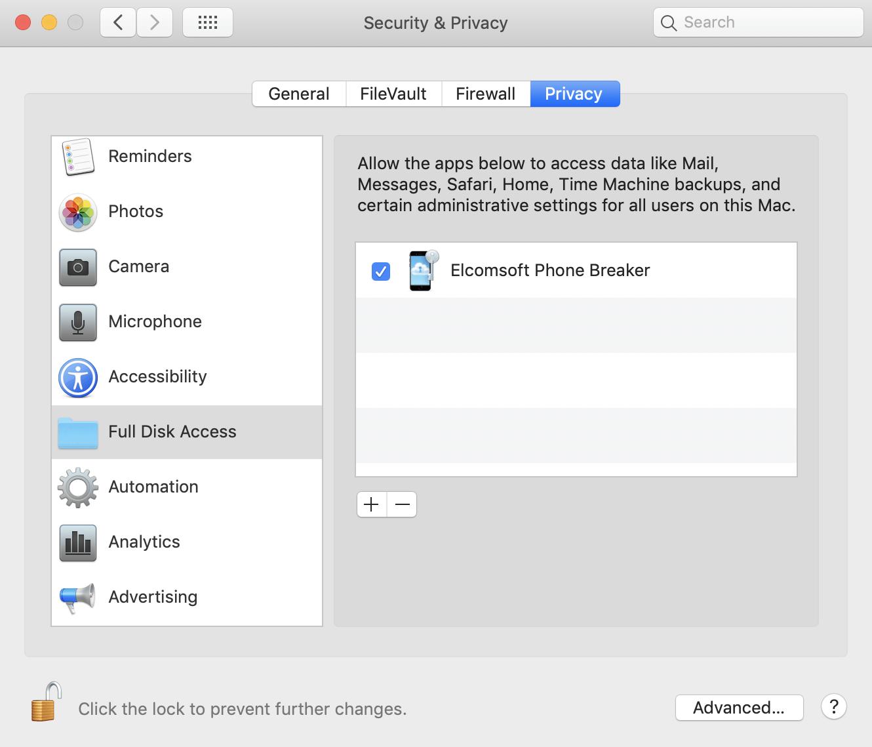 Elcomsoft PhoneBreaker key Serial Key